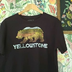 Distressed Yellowstone Grizzly Tee Custom '77